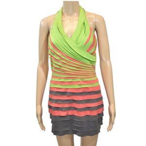 Halter Layered Bodycon Dress
